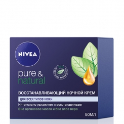 NIVEA Visage Pure & Natural восстанавливающий ночной крем