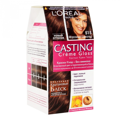 Краска-уход для волос Loreal Casting Crème Gloss 515 Морозный шоколад.